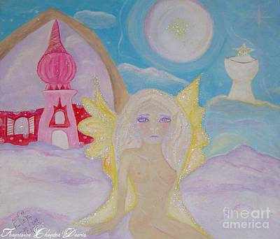 Woman Painting - Fairy Kingdom by Sacred  Muse