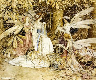 Fay Digital Art - Fairy Lovers by Helen Jacobs