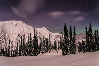 Moonscape Photograph - Fairy Meadows Northern Lights by Ian Stotesbury