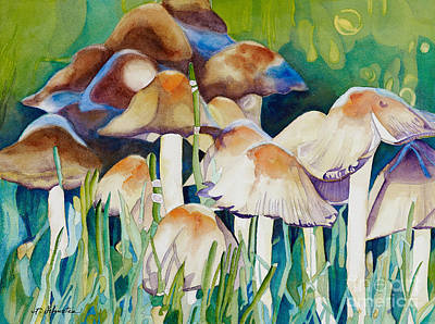 Fungi Painting - Fairy Ring by Amanda Schuster
