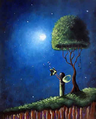 Fairy Art Painting - Fairy Wishes Original Art Painting by Shawna Erback