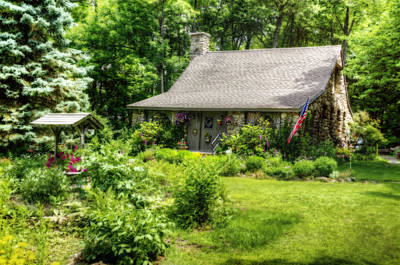 Woods Photograph - Fairytale Cottage by Donna Doherty
