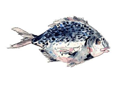 Pisces Fish Drawing - Fairytale Fish by Christiane Rainey