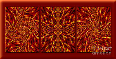 Overcoming Digital Art - Faith And Doubts Triptych - Spiritual Art By Giada Rossi by Giada Rossi