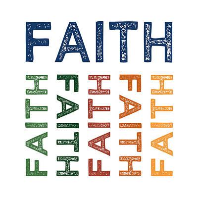 Hope Digital Art - Faith Cute Colorful by Flo Karp
