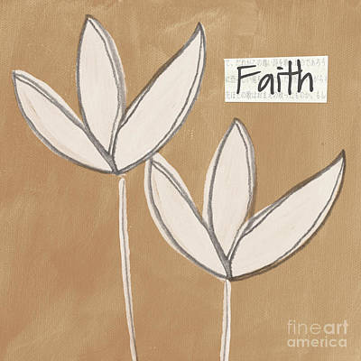 Scripture Mixed Media - Faith by Linda Woods