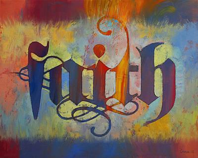 Faith Print by Michael Creese