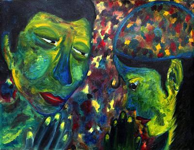 Faith Vs Fear Original by Bliss Of Art