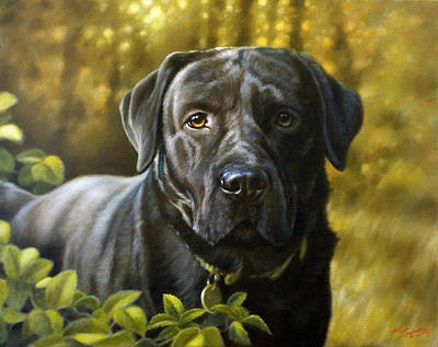 Charcoal Landscape Drawings Painting - Faithful Friend by John Silver