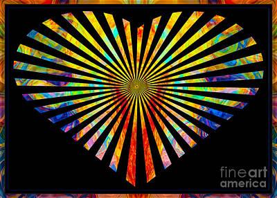 Faithful Love Everlasting Abstract Symbols Artwork Print by Omaste Witkowski