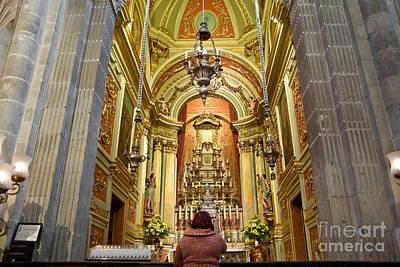 Altar Photograph - Faithful Woman Praying by Jose Elias - Sofia Pereira