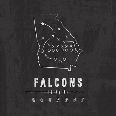 Falcon Digital Art - Falcons Country by Damon Gray