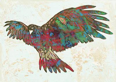 Falcony Stylised Drawing Art Poster Print by Kim Wang