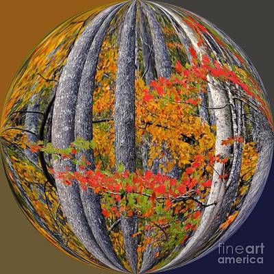 Fall Art Nouveau Print by Scott Cameron