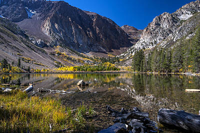 Fall At Parker Lake Print by Cat Connor