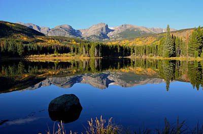 Fall At Sprague Lake Print by Tranquil Light  Photography