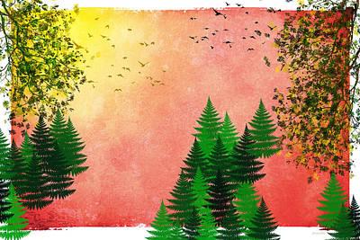Rollo Digital Art - Fall Autumn Four Seasons Art Series by Christina Rollo