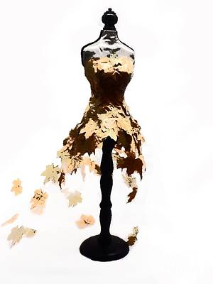Ball Gown Digital Art - Fall Ball Gown by Christina Perry