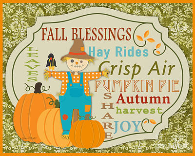 Fall Blessings-c Original by Jean Plout