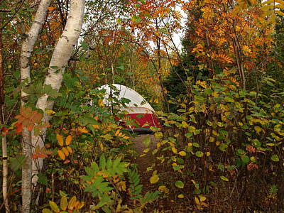 Peterson Nature Photograph - Fall Camping by James Peterson