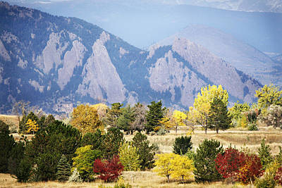 Leaf Photograph - Fall Colors Along The Flatirons by Marilyn Hunt