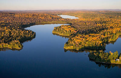 Kites Photograph - Fall Colours On Big Cedar Lake. Quebec by Rob Huntley