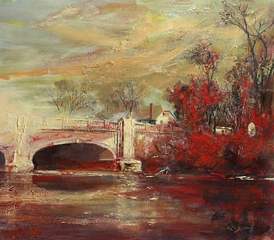 Fall Creek Bridge Indianapolis Original by Larry Kaiser