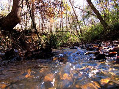 Spirt Digital Art - Fall Creek by Cody Davis Moore