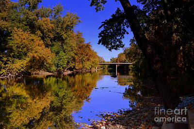 Indiana Photograph - Fall Creek Reflections by Amy Lucid