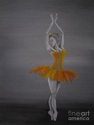 Pointe Painting - Fall Dancer 2 by Laurianna Taylor