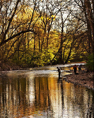 Fall Fishing Print by Tom Gari Gallery-Three-Photography