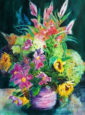 Fall Floral Sweetness Original by Kathy Braud