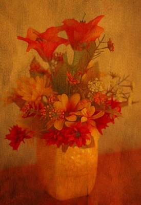 Lilies Mixed Media - Fall Flower Bouquet by Dan Sproul