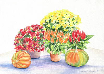 Fall Flowers Print by Deborah Ronglien