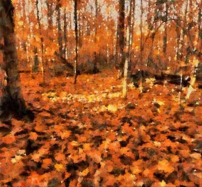 Fall Foliage Print by Dan Sproul
