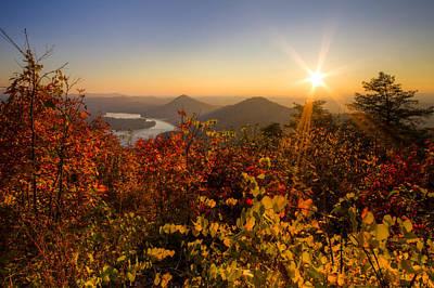 Fall Foliage Print by Debra and Dave Vanderlaan