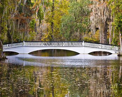 Fall Footbridge Print by Al Powell Photography USA