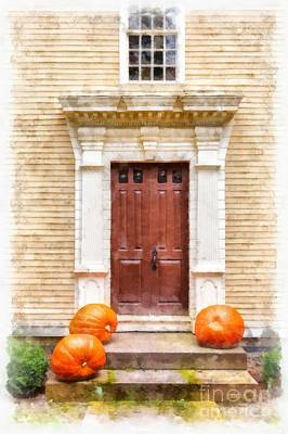Front Steps Photograph - Fall Harvest by Edward Fielding