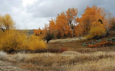 Fall In Montana Print by Larry Stolle