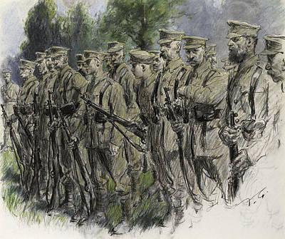 Fall In Norfolk Volunteers Print by Frank Gillett