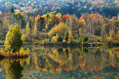Country Scene Photograph - Fall Kaleidoscope by Christina Rollo