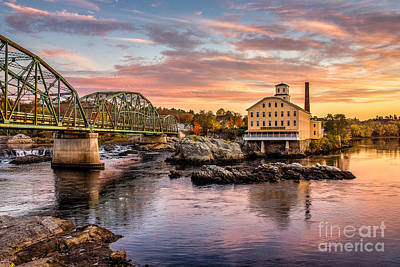 Androscoggin River Photograph - Fall Morning Across From The Bowdoin Mill by Benjamin Williamson
