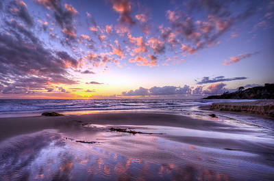 Fall Ocean Colors Print by Sean Foster