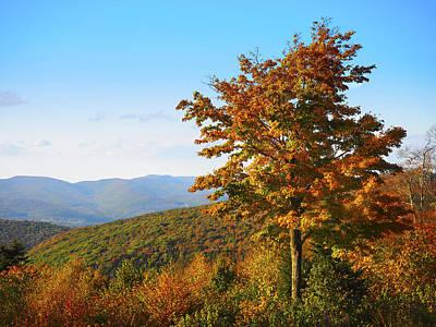 Landscape Photograph - Fall On Mt. Greylock by Kyle Wasielewski