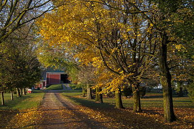 Fall On The Farm Print by John-Paul Fillion