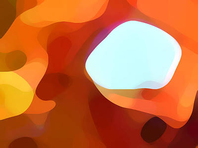Abstract Forms Digital Art - Fall Passage by Amy Vangsgard