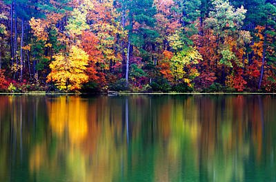 Fall Reflections Print by Tony  Colvin