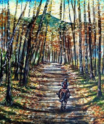 Maine Roads Painting - Fall Ride by Shana Rowe Jackson