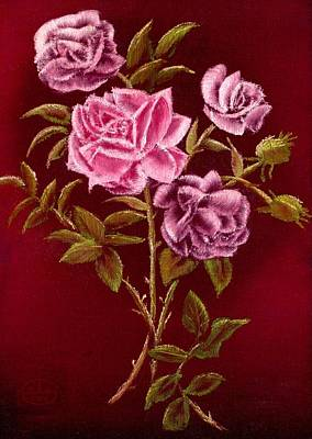 Fall Roses Print by Ron Chambers