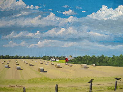 Bales Painting - Fall Rounds by Norm Starks